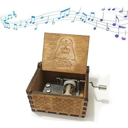 Reine Hand-klassischen Premier Spieluhr,Funmo Star Wars MusikBox Gravur aus Holz Dekorative Box Reine Hand-hölzerne Spieluhr kreative Holz Handwerk