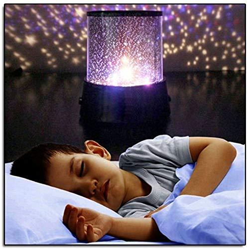 Wyxhkj LED Nachtlicht, Erstaunliche LED Sternenhimmel Projektor Lampe Star Light Cosmos Master LED Lichter Salz Lichter Nachttischlampe für Festival Geschenk Schlafzimmer Beleuchtung (A)