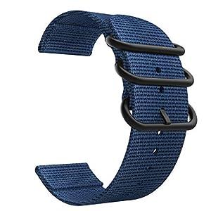 """Passt auf 5.31 """"-7.87"""" (135mm-200mm) Handgelenk (Es wird einen Unterschied von ± 5mm geben und hängt von Ihrer Uhrgeometrie ab). Breite des Uhrenadapter Lugs ist 22mm. Messen Sie den Abstand zwischen dem Armband und dem Zifferblatt vor dem Kauf. Gurt..."""