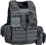 Defcon 5 Body Armor Carrier Set, chaleco táctico BAV06 porta placas balísticas Negro Talla única