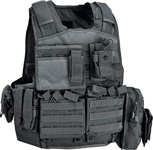 Defcon 5 Body Armor Carrier Set, taktische Jacke BAV06 Balistische Plattenhalter, Schwarz One size