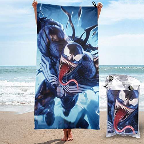 Toalla de secado rápido Ve-Nom toallas de microfibra absorbentes y ligeras para acampar/deportes/viajes/fitness 31.5 x 63 pulgadas