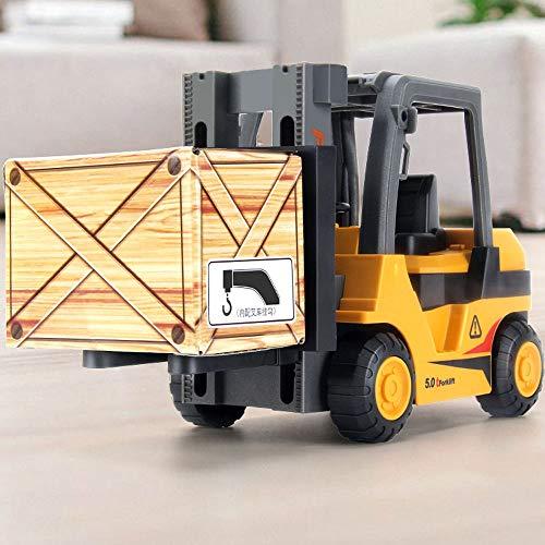 Xolye Simulation BAU Truck Gabelstapler Spielzeug Kinder Trägheit Vorwärts Spielzeug Auto Heben Kran Modell 3-6 Jahre Alter Jungen Spielzeug Auto Geschenk