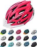 Meteor Casco Bici per Giovani e Adulti Donna e Uomo Caschi per Downhill Enduro Ciclismo MTB Helmet Ideale per Tutte Le Forme di attività in Bicicletta Marven (S(52-56cm), Rosso/Bianco)
