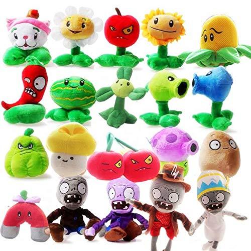 MIAOGOU Plantas Vs Zombies Juguetes De Peluche 2020 Fashion 20pcs / Set Plants Vs Zombies Lovely Plush & Stuffed Toys Juegos Populares Hot Doll Regalos De Cumpleaños Creativos para Niños