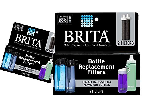 Brita Water Filter Bottle Replacement Filters, 4 Count (2 Packs of 2)