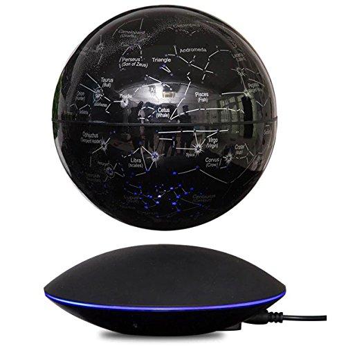 MagneticLand StarGlobe - Globe Constellations sur Base électromagnétique Design Noire avec Induction