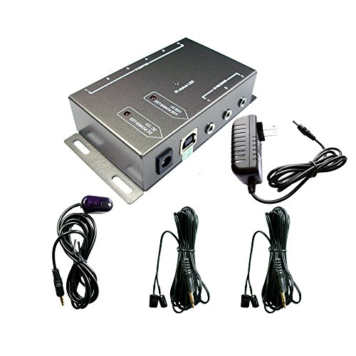 IR Repeater,IR Remote Control Extender,Infrared Repeater System (2 Dual Head ir emitter)