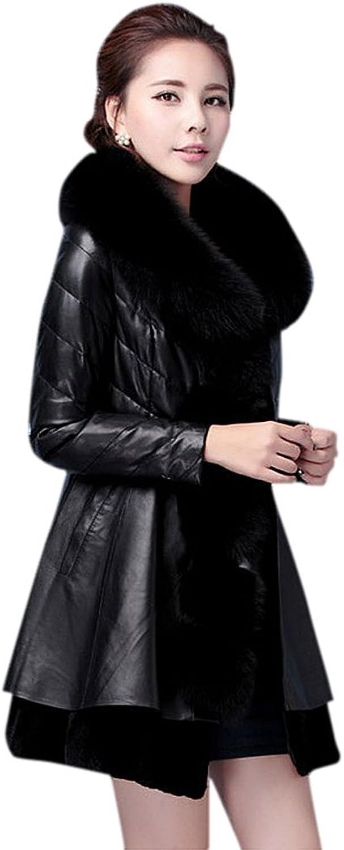 Drasawee Women's Midi Faux Fur Lined Winter Down Coat Jacket Warm Outerwear