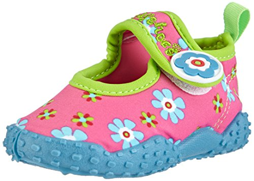 Playshoes Badeschuhe Blumen mit höchstem UV-Schutz nach Standard 801 174759, Mädchen Aqua Schuhe, Pink (original 900), 26/27 EU