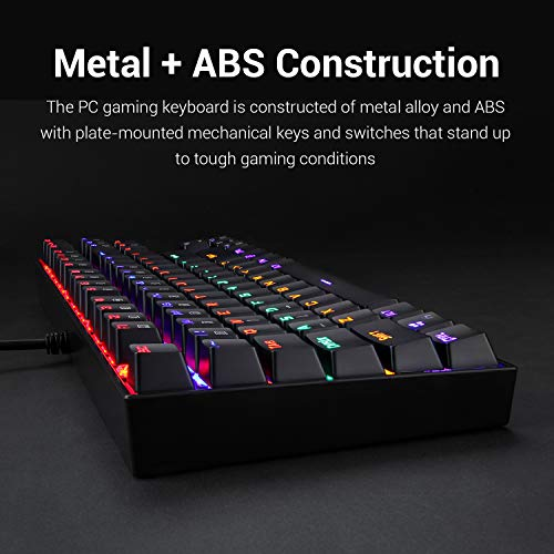 Product Image 1: Redragon K552 Mechanical Gaming Keyboard RGB LED Rainbow Backlit Wired Keyboard with Red Switches for Windows Gaming PC (87 Keys, Black)