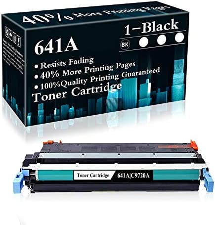 1 Black 641A C9720A Remanufactured Toner Cartridge Replacement for HP Color Laserjet 4600 4600dn product image