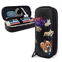 キュートなコーギー Dog ペンケース 筆箱 ペンポーチ ペンバッグ 大容量 高級puレザーペンポーチ 文具収納バッグ 小物入れ 筆入れ 化粧バッグ 小学校 高校生 旅行男女兼用