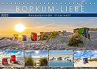 BORKUM-LIEBE (Tischkalender 2022 DIN A5 quer): Landschaftlich bezaubernde Inselwelt (Monatskalender, 14 Seiten )