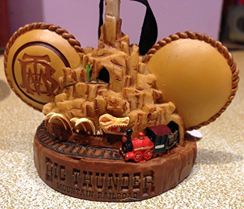 Disney Parks Big Thunder Mountain Railroad Mickey Mouse Ears Hat Ornament NEW