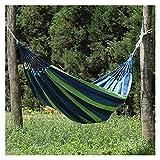 Hamaca portátil Hamaca al Aire Libre Jardín Deportes Viajes en casa Camping Columpio Lienzo Raya Colgar Cama Hamaca Rojo, Azul Hamaca portátil