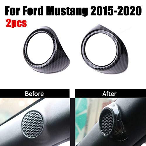 THE BEST DAY A-Säule Lautsprecher Dekorative Abdeckung Zierleiste für Ford Mustang 2015-2020