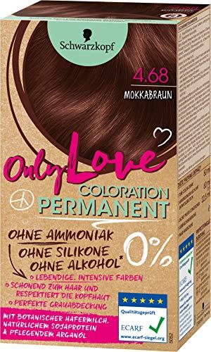 Schwarzkopf Only Love Coloration, Haarfarbe 4.68 Mokkabraun, 143 ml