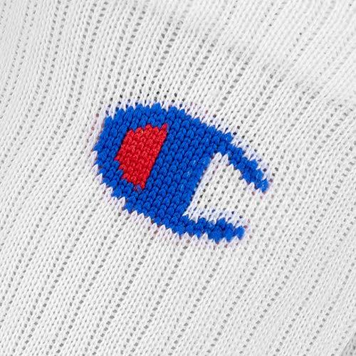 Champion Unisex Legacy Crew X6 Sports Socks, White, 3 5 UK , 6 Pack