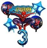 CHENZHAOL Bebé Globo 6 unids/Set Spider Man Homecoming Happy Birthday Party Globos 32 Pulgadas Número Ballon Inflable Globos de Helio Decoraciones Niños (Color : Deep Blue)