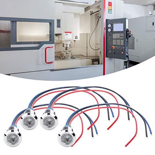 Emoshayoga LED Redondos precableados Mini LED de Dos Colores para máquinas Herramienta CNC para modificación por computadora(Red and Blue, Transl)