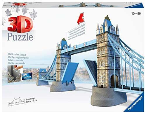 Ravensburger Tower Bridge of London 216 piece 3D Jigsaw Puzzle for Kids age 8 years and up