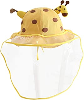 Artibetter Toddler Bucket Hat Giraffe Design Kids Safety Face Shield Anti-Spitting Hat Anti-Saliva Face Protective Splash-Proof Facial Cover Fisherman Hat
