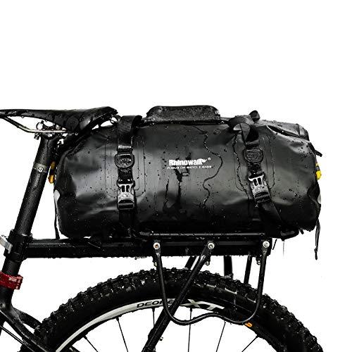 STKASE 20L Pannier Bag Waterproof Panniers Bike Rear Rack Bag Bicycle Seat Bag with Shoulder Strap for Mountain Bike Road Bike Folding Bike,Black