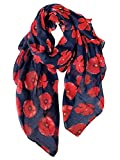 GERINLY Red Poppy Flower Scarfs for Women Lightweight...