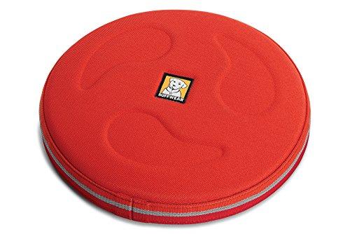 Ruffwear Frisbee hondenspeelgoed, drijft op het water, één maat, turquoise (turquoise (blauwe atoll)), Hover Craft, 60103-409L, Hover Craft, Rood (Sockeye Red)