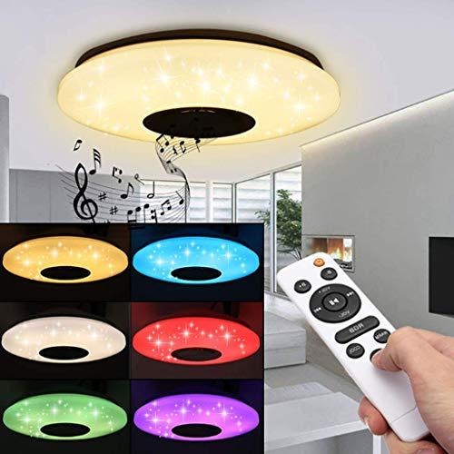 Musique Intelligente LED Plafonnier Haut-Parleur RGB Dimmable APP Télécommande Moderne Maison Bluetooth Chambre Lampe Plafonnier Home Cinéma Haut-Parleur