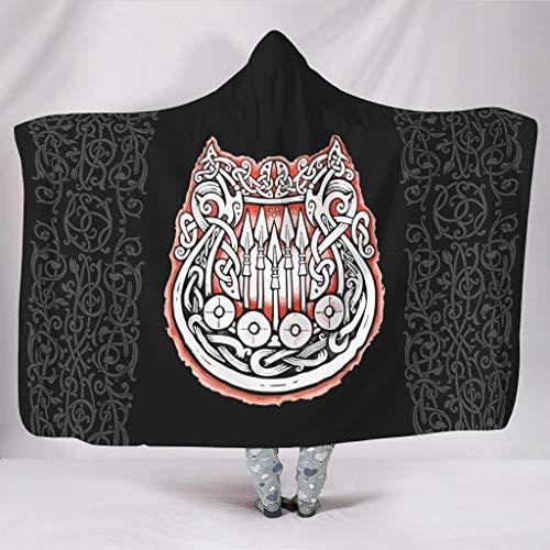 Dofeely SerieWearable Tapisserie Hooded Throw Wrap Warme Schlafdecke TV Creative Cloak Für Erwachsene Oder Kinder White 150x200cm