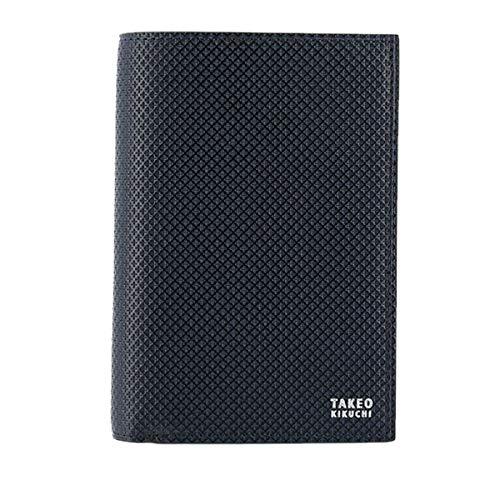 [タケオキクチ] 二つ折り財布 L字ファスナー バース メンズ 706625 TAKEO KIKUCHI 本革 レザー ブランド専用BOX付き 【07】ネイビー