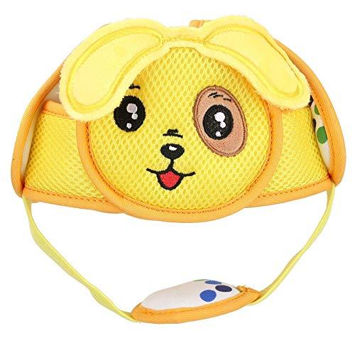 Baby Anti Kollisions Hut Baby Kleinkind Kopfhut Leichter Klett Schutzhelm Kopfschutz Schutzhelm für Baby Lernen zu Gehen(gelber Welpe)