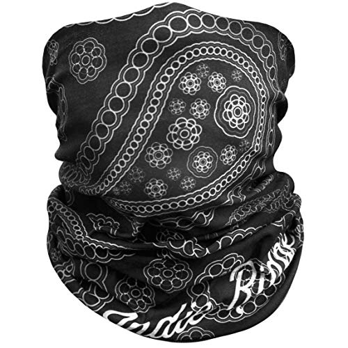 Paisley Motorcycle Face Mask By Indie Ridge - Dust and Wind Riding Outdoor Neck Gaiter