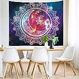 Bubinix Tapiz de Pared para Dormitorio, salón, Colgante, Indio, Bohemio, Cielo Estrellado, Mandala, Elefante, Bosque Tapices Alfombra de Pared 150 x 200 cm (Style 13)