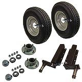 AB Tools 500kg remorque roulement de moyeu 4 unités de Suspension PCD 4 Pneu Roue Goujon 400x8 4PLY