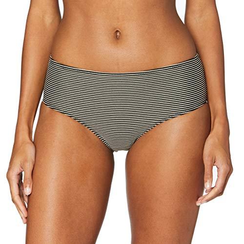 LOVABLE Gold Lines Parte Inferiore del Bikini, Rigato Nero Oro, M Donna