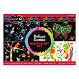Melissa & Doug Scratch Art Deluxe Combo Set (Arts & Crafts, Hides Colors & Patterns, Easy to Use, Supplies for...