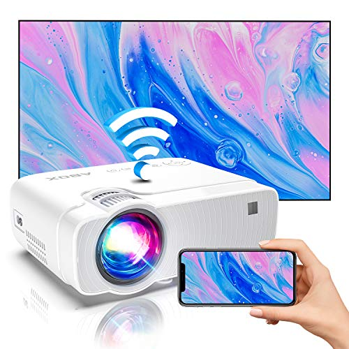 "Bomaker Mini Projector for iPhone, Portable Wireless WiFi Projector for Phone/Office Presentation, Full HD 200"" Display Supported, Compatible with Laptop, HDMI, TV Stick"