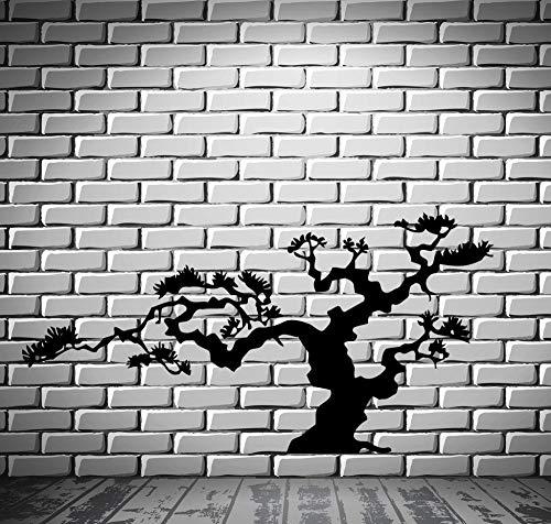 keletop Árbol de los bonsais japoneses Vinilo Pegatinas de Pared Decoración de la Naturaleza Isla de Japón Etiqueta de la Pared Calcomanía Autoadhesivo DIY Impermeable Mural 56 * 110 cm