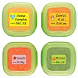 Baby Food Labels, Removable Write-On Date Labels for Food Storage...