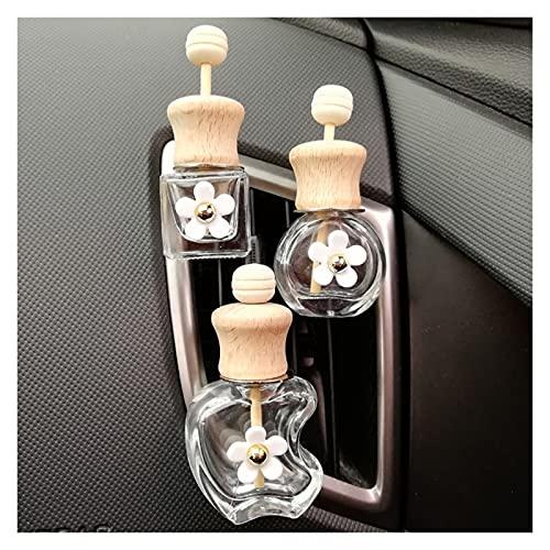 JSJJAWS Botella contenedor 10 unids/Lote 8ml Outlet de automóvil Botella de Perfume vacío Ventiladores de Coche Transparente Desodorante Aire Acondicionado Botella de Perfume (Color : Round Shape)