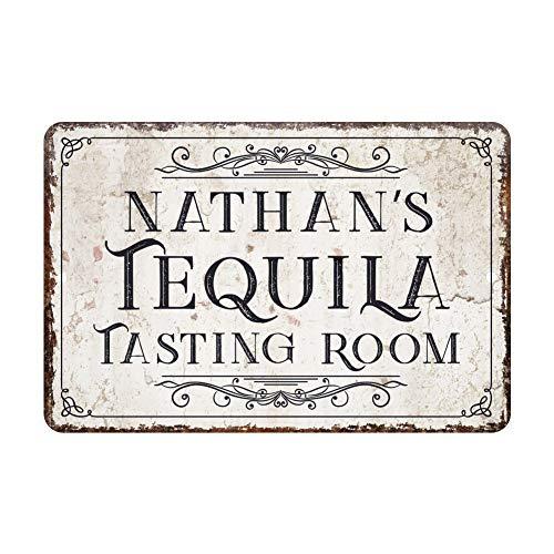 Tequila Gepersonaliseerde vintage gedistressed look, metalen sign, rustieke tekst, welcome sign, op maat gemaakt, met deursignalen