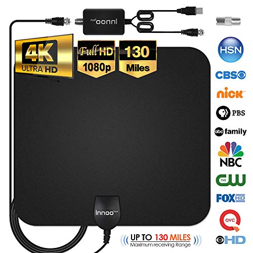 powerful TV Antenna – 4K 1080P HDTV Antenna, New Version of Digital Antenna in the 80-130 Mile Range…
