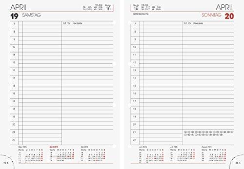 Brunnen 1076527 ringbandvulling (voor ringbandkalender model 765, 1 pagina = 1 dag, 143 x 202 mm, kalender 2020, zonder registratie