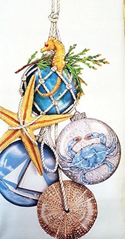 Mary Lake Thompson Nautical Christmas Ornaments 100 Cotton Flour Sack Dish Tea Towel 30 X 30