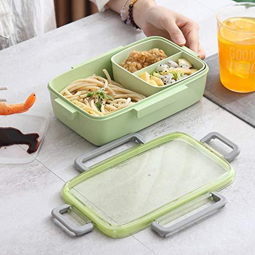 YOUZE lekvrije onafhankelijke rooster gezonde bamboe vezel lunchbox met deksel Bento draagbare voedsel container school milieuvriendelijk kantoor