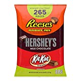 REESE'S, HERSHEY'S and KIT KAT Assorted Milk Chocolate Miniatures Candy, Easter, 80.39 oz Bulk Variety Bag (265 Pieces) by Hershey's