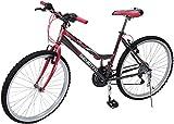 Benotto MRDALP2621UNGR Bicicleta de Acero Rodada R26, Dama, Frenos V, 21 Velocidades